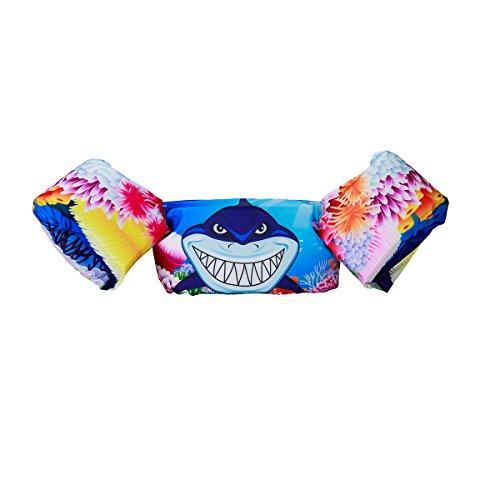 Elejolie Kids ,Learn to Swim Life Jacket,Swim Aid Floater Life Vests (22-66 bl) (Shark)