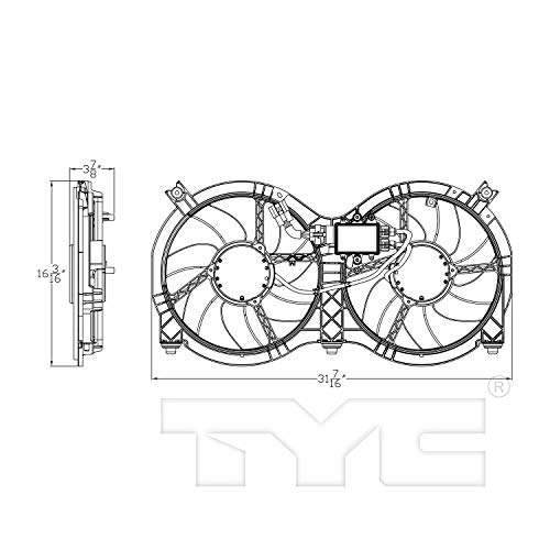 TYC-623760-Cooling-Fan-Assembly-Replacement