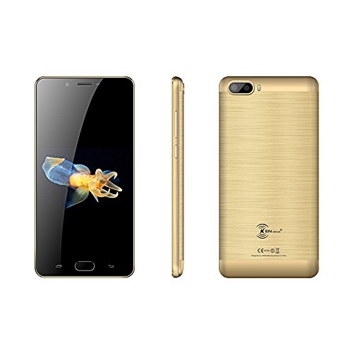 "Kenxinda S9 Uncloked Dual-Sim Smartphone 5000mAh battery 5.5"" Display, 13Mp+8MP Camera, Andoid 7.0 MTK6737 Platform Chinese 4G Smartphone (Gold)"