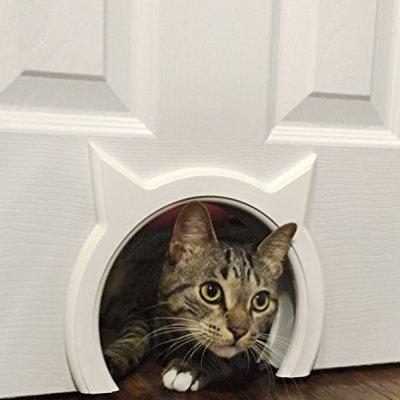 The Kitty Pass Interior Cat Door Hidden Litter Box Pet Door for...