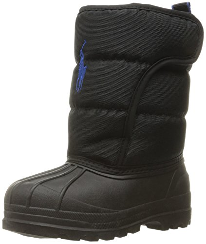 Polo Ralph Lauren Kids Boys' 993534 Snow Boot, Black, 7 M US Toddler