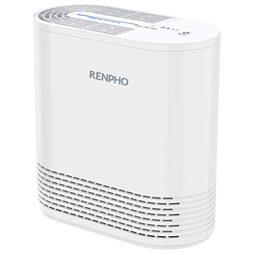 RENPHO Air Purifier for Allergies and Pets, Air Purifiers for Bedroom with True HEPA Filter, Air Cleaner for Smokers Office Child Room, Eliminates Allergens, Odors, Mold, Dust, Pet Dander, Smoke