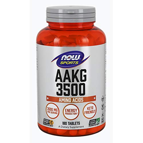 NOW Sports Nutrition, AAKG (Arginine Alpha-Ketoglutarate) 3500, 180 Tablets