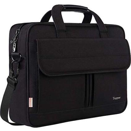 Taygeer-Laptop-Bag-156-Inch-Business-Briefcase-for-Men-Women-15inch-Water-Resistant-Messenger-Shoulder-Bag-with-Strap-Durable-Office-Bag-Carry-On-Handle-Case-for-Computer-Notebook-MacBookBlack