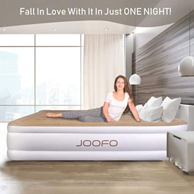 JOOFO-Portable-Queen-Air-Mattress-Premium-Inflatable-Air-Beds-with-Built-in-Pump-for-Fast-Inflation-Queen-Size
