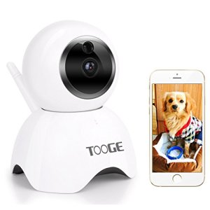 Pet Camera WiFi by TOOGE, Wireless Security Camera IP 720P Pan Tilt with APP Night Vision 2 Way Audio and Motion Detection 4