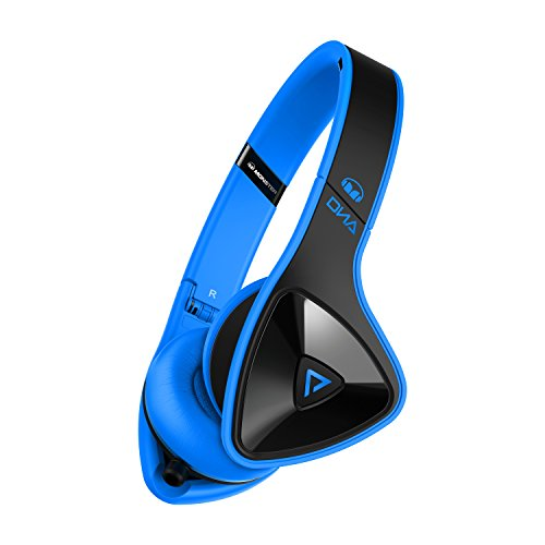 Monster-DNA-On-Ear-wired-travel-Headphones-Laser-Blue