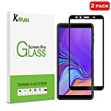 [2 Pack] KATIAN Compatibe Samsung Galaxy A7 (2018) Screen Protector, HD Full Coverage Protector[Anti-Scratch] [No-Bubble] [Case-Friendly], 9H Tempered Glass Screen Film for Samsung Galaxy A7 [Black]
