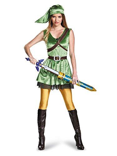 Disguise Women's Legend of Zelda Link Adult Costume, Green, Medium