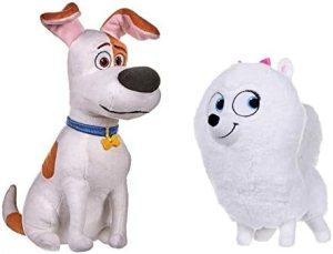 Secret Life Of Pets 2 – 25cm 10″ – Sitting Max & Gidget – Super Soft Gift Quality Plush – S1