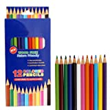 OIG Brands Colored Pencils for Adult Coloring Books - Premium Color Pack of 12 Assorted
