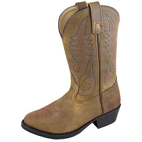 Smoky Mountain Annie Western Boot Round Toe, Brown, 3.5 M US Big Kid