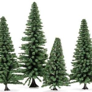 Hornby Skale Scenics Classic Evergreen Fir Trees X 4 Trees 3″-5″ for HO Model Layouts R7206 41DUc8A9GLL