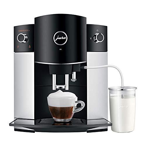 Jura-D6-Automatic-Coffee-Machine-15216-Platinum-and-Glass-Milk-Container-Bundle-2-Items
