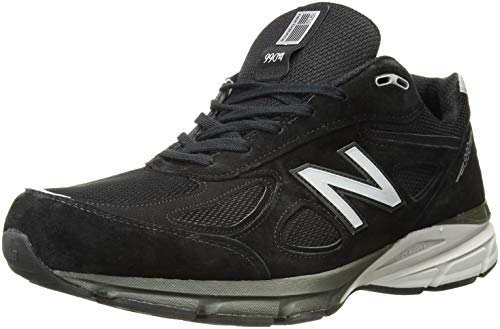 New Balance Men's M990BK4 Running Shoe, Black/Silver, 11 2E US