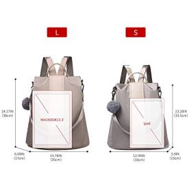 Women-Backpack-Purse-Waterproof-Nylon-Anti-theft-Rucksack-Lightweight-Shoulder-Bag