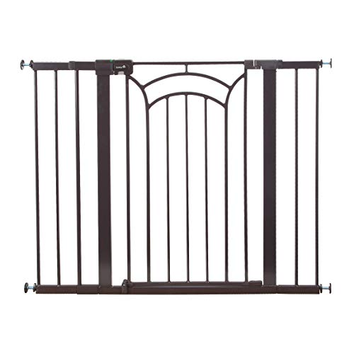 Safety 1st Décor Easy Install Tall & Wide Baby Gate with Pressure Mount Fastening