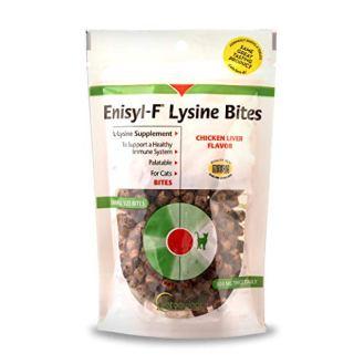 Vetoquinol-Enisyl-F-Lysine-Bites-L-Lysine-Chews-for-Cats-Kittens-Chicken-Liver-Flavor-64oz-180g-Reclosable-Bag