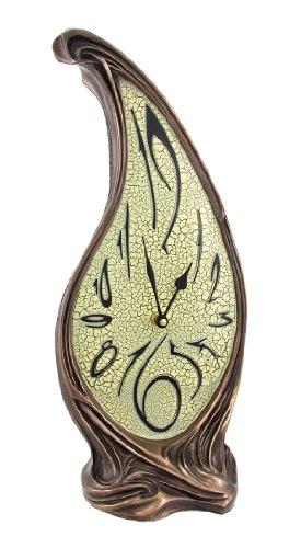 Bronze Finish Melting Mantel Clock Dali-esque
