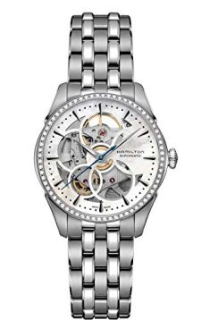 Hamilton Jazzmaster Viewmatic MOP Dial Stainless Steel Ladies Watch H42405191