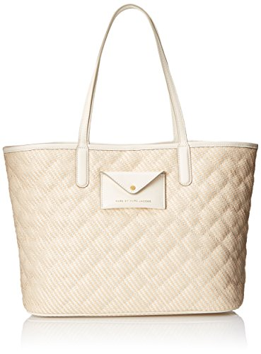 41DhiSBQRUL Structured tote featuring small envelope front-snap pocket with Marc Jacobs logo and dual shoulder straps Includes top-zip pouch