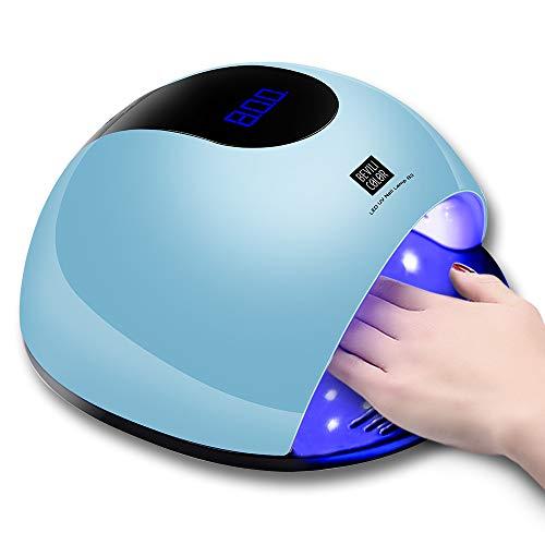 Healthy Care UV Nail Lamp 80W LED Nail Dryer Lamp for Gel Nail Polish, Big Space for Fingernail & Toenail Polish Art