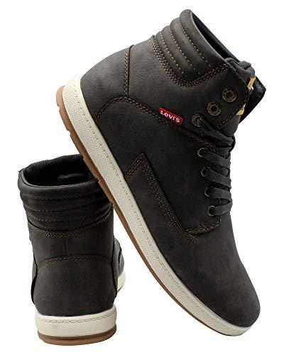 Levi's Mens Fletcher Waxed Sneaker,Grey,9.5