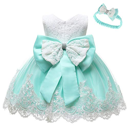 LZH Baby Girls Party Dress Princess Flowers Wedding Dresses Toddler Pageant Tulle Tutus Light Green