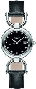 Longines Equestrian Collection - L6.131.4.57.0 - Black Diamond Dial Quartz Women's