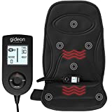Gideon Vibration Seat Cushion Massager with Heat Therapy for Back, Shoulder and Thighs - Great The Car
