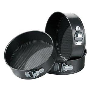 Premier Housewares Spring Form Cake Tins – Set of 3, Black 41Dooic 2BkjL