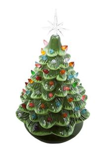ReLIVE-Christmas-is-Forever-Lighted-Tabletop-Ceramic-Tree-16-Inch-Green-Tree-with-Multicolored-Lights