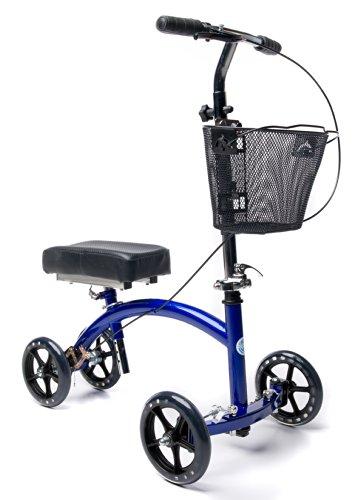 Deluxe Steerable Knee Walker Knee Scooter Knee Cycle Leg Walker Crutch Alternative in Blue