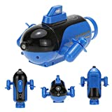 RC Submarine Mini Submarine Remote Control Toy, Model Ship Electronic Waterproof Underwater Submersible, Remote Range Control Submarine Put it in The Pool Tub Worked Fine