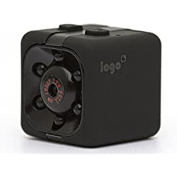 Mini Spy Cam Hidden - iogo Pro 1080P Portable Small Nanny Cam with Night Vision & Motion Sensor, Perfect Indoor Security Surveillance Camera for Home