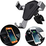 Car Phone Mount, Gravity Car Air Vent Mount, AICase Truly Universal[Compatible with Otterbox Defender Case] GPS 360 Degree Rotation One-hande Auto Lock/Release for Smartphone(Air Vent)