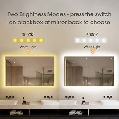 BYECOLD-Smart-Mirror-Bathroom-with-Bluetooth-Vanity-Adjustable-LED-Lighted-Bathroom-Mirror-with-Weather-Forecast-Anti-Fog-Wall-Mirror-for-Make-up-Horizontal-472W-x-236H