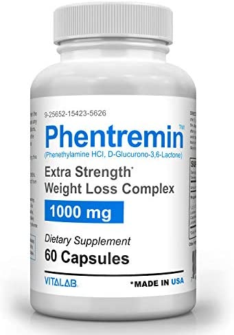 Phentremin1000mg, Extra Strength Weight Loss Complex, Best Appetite Suppressant, 37.5, 60 Capsules 2
