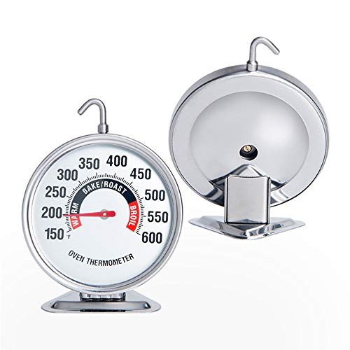 Oven Thermometer Extra Large 3-Inch Dial Oven Thermometer with Hook and Panel Base Hang or Stand in Oven Accurately Monitoring 150℉ to 600℉ for Professional Home Kitchen Cooking