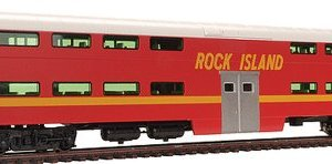 Kato USA Model Train Products Pullman Rock Island #CC116 Bi-Level 4-Window Cab Coach 41E 2BfcFuKJL