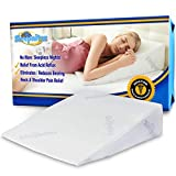 "Sleepnitez 8"" Wedge Pillow for Acid Reflux, DR Recommended Height, Luxurious 3.25"" Memory Foam Pillow Wedge for Sleeping, Anti Snoring, GERD, Post Surgery. Bed Wedge Pillow + Tencel Washable Cover"