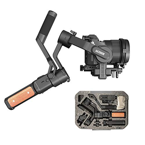FeiyuTech-AK2000s-Gimbal-Camera-Handheld-Stabilizer-with-Versatile-Handle-LCD-Screen-for-DSLR-Camera-Sony-a6300-a6400-a6500-Canon-M50-EOS-R-Panasonic-Nikon-FujifilmAdvanced-Version