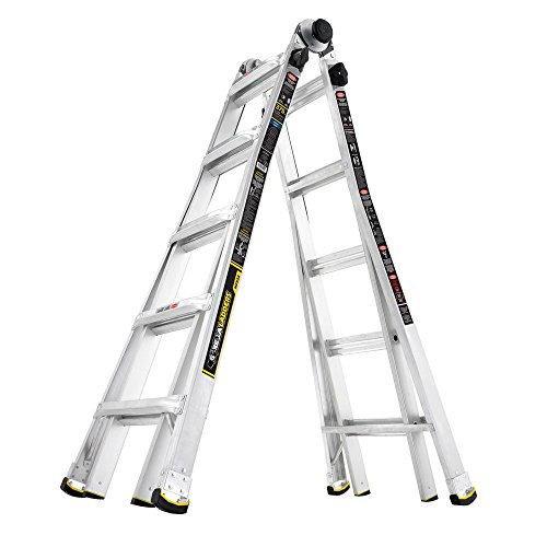 Gorilla Ladders 22 ft. MPX Aluminum Telescoping Multi-Position Ladder with 375 lbs. Load Capacity Type IAA Duty Rating