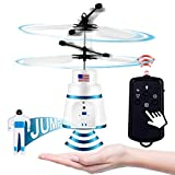 PALA PERRA Flying Toy Mini RC Helicopter, Rechargeable Infrared Induction Flying Drone Indoor and Outdoor Games Toys, Remote Control Helicopter for Kids Parachute with Jumping Paratrooper