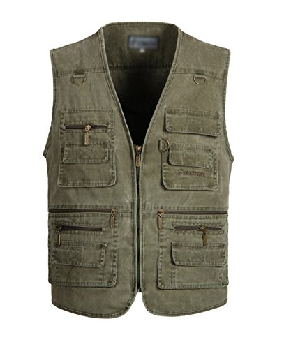 Tactical Outdoor Vest For Outdoor Games Hunting and Shooting Men Vest Army Green US XL/Label 4XL