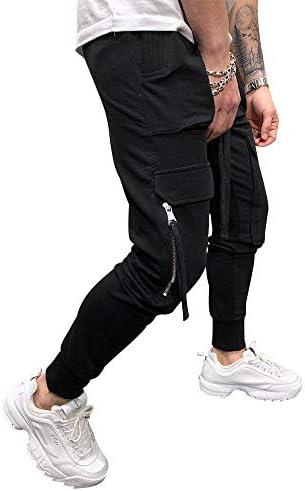 lexiart Mens Fashion Athletie Cargo Pants - Casual Joggers Sweatpants Slim Fit Pants 4