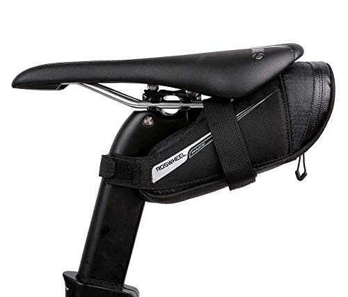 Roswheel Race Series 131432 Ultralight Bike Saddle Bag Bicycle Under Seat Pouch Cycling Wedge Pack for Road Bike, 0.4 Liter Capacity