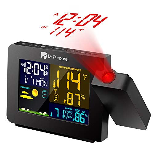 Dr. Prepare Projection Alarm Clock for...
