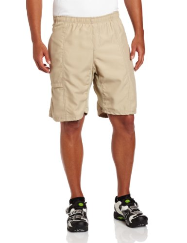 Canari Men's Cyclewear Canyon Gel Baggy Shorts, Khaki, Large