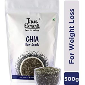 True Elements Raw Chia Seeds for Weight Loss | Calcium Rich Seeds